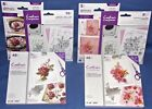 Crafters Companion Dies  Clear Acrylic Stamps w 48pc Decoupage Topper Pad UPick