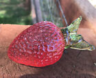 Vintage Murano Art Glass Strawberry Realistic Decorative Fruit 3 3 4