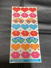 Fantasies Illuminations Vintage 1980s 80s 1983 Love And Kisses Stickers Sheet