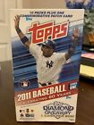 2011 Topps Baseball Series 1 Box 10 Packs Plus One Commemorative Patch Card
