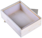 Nicole Rectangle Silicone Soap Mold White Handmade Loaf Mould with Wooden Box