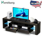 High Glass 63 TV Stand Entertainment Centre CD Cabinet Video Wood for 70 TV