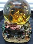 Nativity Scene Christmas Snow Globe Plays Silent Night has Rotating Bottom