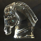 Baccarat Crystal Glass Horse Head Sculpture Figurine Signed Tauni de Lesseps NM