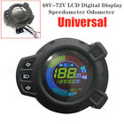 48 72V Scooter Motorcycle LCD Screen Instrument Gauge Odometer Moped Speedometer