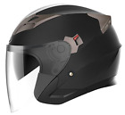 Motorcycle Open Face Helmet DOT Approved YEMA YM 627 Motorbike Moped Jet Pilot