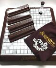 2001 MB Deluxe LOW VISION Edition Scrabble Board Game w Rotating Turntable