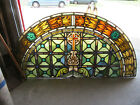 ANTIQUE STAINED GLASS CHURCH WINDOW 685 X 335 ARCHITECTURAL SALVAGE