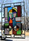 Cube Art Stained Glass Window Panel 2025 x 1425
