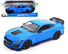 2020 FORD MUSTANG GT500 BLUE 1 18 SCALE DIECAST CAR MODEL BY MAISTO 31452