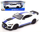 2020 FORD MUSTANG GT500 WHITE 1 18 SCALE DIECAST CAR MODEL BY MAISTO 31452