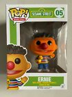 Funko Pop Sesame Street Flocked Ernie #05 Exclusive Henson Muppets