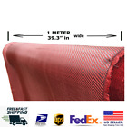 Carbon Fiber Fabric Red Carbon Fiber Twill Weave 3K 200g 393 in x 393 in