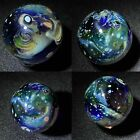 Space scape Glass Art Marble Hand Made USA