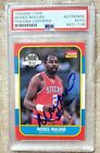 Moses Malone 1986 #69 Fleer rookie card PSA DNA autographed autograph HOF
