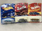 Hot Wheels SINCE 68 Classic Side Kick 55 Chevy 1965 Corvette Lot of 3 Cars NEW