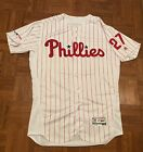 Aaron Nola Authentic Majestic Jersey Size 44 Phillies Flexbase