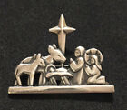 James Avery Nativity Pin Brooch Manger Scene Baby Jesus Sterling Silver Retired