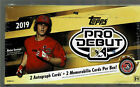 2019 TOPPS PRO DEBUT BASEBALL FACTORY SEALED HOBBY BOX 2 AUTOS & 2 RELICS