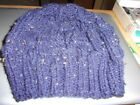 Beanie - For Men or Women- Navy blue with speckles = Handmade