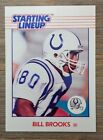 Bill Brooks 1988 STARTING LINEUP Card Colts Kenner NFL Hard to Find !!!