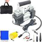 Auto Double Cylinder Car Air Compressor Tire Pump Inflator HEAVY DUTY PORTABLE