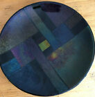 Sparkling Jewel Toned Art Glass 115 Plate Signed by Artist
