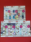 Set of 7 CraftSmart Sticker Packs for Planners and Scrapbooking Motivational