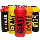 Protein Shaker Bottles 5 Pack 24 Oz Protein Blender Cups with Shakers Ball