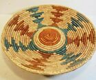 VINTAGE NATIVE AMERICAN STYLE WOVEN 14 INCH BASKET FREE SHIP M1