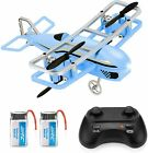 JJRC Mini Drone for Kids RC Nano Airplane Quadcopter Beginners with Blue