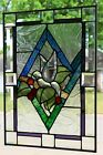 Beveled Dove Stained Glass Window Panel 20+ x 14+