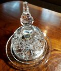 NEWVintage 24 Crystal Glass Dome Covered Butter DISH Cheese Dish