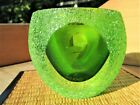 BEAUTIFUL VINTAGE MURANO ART GLASS SOMMERSO FACETED ROUND BOWL VOTIVE HOLDER