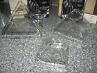 Set of 3 FIRELIGHT GLASS 3 4 5 Pyramid Candles Never Used Oil Included