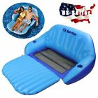 Inflatable Pool Floats Lounger And Chair For 2 Person Adult Size With Cup Holder