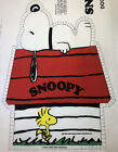 Rare Vintage Peanuts Snoopy On His Dog House Craft Fabric Panel Pillow Toy Doll