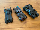 JADA 1989 1968 2008 Batmobile Cars 132 Scale  5 Inches Die Cast lot of 3