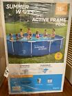 Summer Waves 15ft Active Metal Frame Above Ground Swimming Pool Filter  Pump