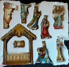 Baby Jesus Christmas Nativity Figurine Set Complete by Roman 4 Inch Tall Fig
