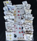 Mixed Lot of 85 carded vintage BUTTONS  255 individual total