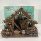 Vintage Christmas Nativity Stable Manger Multi Material Creche By World Showcase