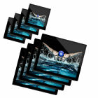 4x Glass Placemates  Coasters Swimming Pool Butterfly Stroke Swimmer 46344