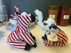 ty beanie babies Righty and Lefty 2000 Beanie Babies Rare P.E pellets and tag!