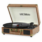 Victrola Turntable Record Player Portable Suitcase Bluetooth RCA Aux in 3 Speed