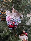 ~~ Radko ~ 2001 Wings of Love ~ Breast Cancer Charity Ornament ~ Dove & Heart ~~