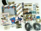 Lot of Texas Scrapbooking Paper Stickers Stamps Tags Brads Leather Hemp Cord