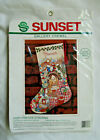 Sunset Cozy Fireside Stocking Crewel Embroidery Kit
