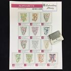 Scroll Alphabet Embroidery Designs Card For Husqvarna Viking Embroidery Machines