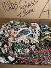HUGE LOT A OF GLASS STONE BEADS  MORE FOR JEWELRY MAKING 10LBS LQQK